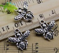30//90pcs retro Jewelry Making DIY Lovely heart alloy charm pendant 13x10mm
