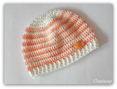 Babymütze, Erstlingsmütze Mädchen, Baumwolle   von Chariscap auf DaWanda.com