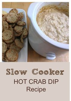 The best slow cooker hot crab dip recipe!! Great for game days!