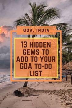 Travel Goa:Popular attractions to lesser-known hidden gems, explore Goa in a unique manner. Goa Travel, India Travel Guide, Paris Travel, Travel Couple, Family Travel, Adventure Activities, Fun Activities, Places To Travel, Places To Visit