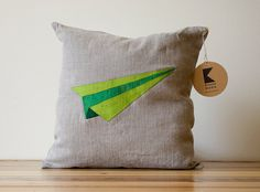 Airplane Origami Patchwork Cushion (inspiring)