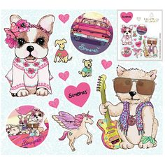 VINILO DECORATIVO GRANDE MIX - Comprar en Simones — Simones Decoupage, Kawaii, Happy Mail, Emoji, Cute Pictures, Free Printables, French Bulldog, Crafts For Kids, Birthdays
