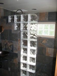 glass block wall shower