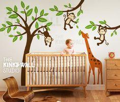 http://downthatlittlelane.com.au/wall-decals-by-my-friend-matilda/product/7987-giraffe-sticker-decal-with-monkeys-on-tree-children-baby-kid-boy-girl-playroom