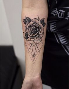 Картинка с тегом «tattoo, rose, and flowers»