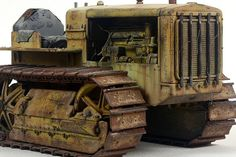 John Tolcher 1/16 Scale diecast Cat 22 Tractor, repainted and weathered