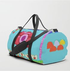 Tati Galiano. Illustration. Society6. duffle Bag. Colorful camera. #society6 #camera #colorful