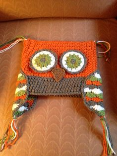 Adult crocheted owl hat