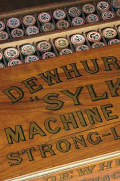 Vintage Dewhursts Cotton Reel Cabinet.