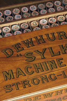 Vintage Dewhursts Cotton Reel Cabinet.