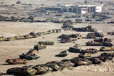 This graveyard of military hardware remains at the Kabul Military Training Centre in Afghanistan. Soviet tanks and armoured personnel carriers stand rusting many years after the Soviet retreat from Afghanistan in 1989