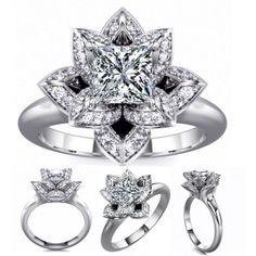 Holy Crap!! Lotus Princess Diamond Engagement Ring