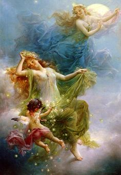 In The Night Sky by Hans Zatzka