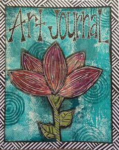 """I created this blank journal using a big sheet of hot press water color paper - the pages are 8"""" x 10"""" and the journal has 12 pages."""