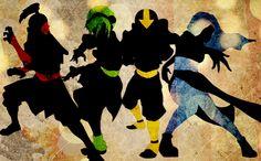 Zuko, Toph, Aang, and Katara