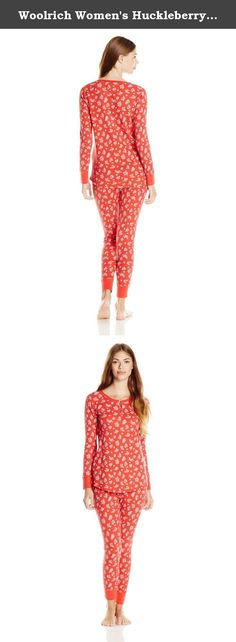 Woolrich Women's Huckleberry Thermal Sleep Set, Hot Guava Floral, Small. The huckleberry thermal sleep set is a comfy and feminine pajama set with cute prints.