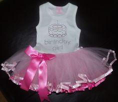 Rhinestone Birthday Girl Tutu Tank Dress by blingcouture21 on Etsy, $30.00