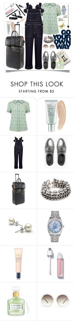 """""""To Alentejo!"""" by carlagoiata ❤ liked on Polyvore featuring Estée Lauder, Ganni, Max&Co., STELLA McCARTNEY, Alexander Wang, MAC Cosmetics, Pearl, Rolex, Carven and Chloé"""