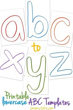 Lowercase ABC Templates – Free Printable! These are so great for my preschooler and toddler! We laminated them and then used them as mats with cheerios, playdoh, and other toys and snacks to learn letter recognition and trace!