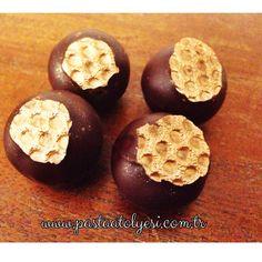 creamy dark chocolate & candied orange truffles