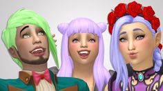 Vampire Pack Hair RecolorsAll of the hairs from the new vampire pack recolored in my palette. Download