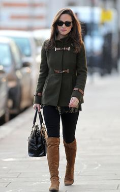 Pippa wearing Fay coat (again) on 12/2/2011