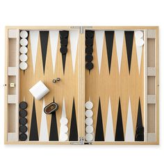 Oak Backgammon Set