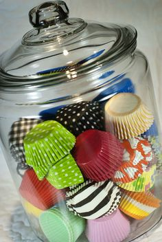 Another way to store cupcake liners