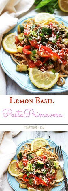 Lemon Basil Pasta Primavera