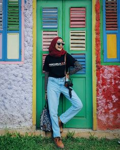 How to pose(? Casual Hijab Outfit, Hijab Chic, Casual Outfits, Fashion Outfits, Hijab Fashion Casual, Fashion Clothes, Street Hijab Fashion, Muslim Fashion, Hijabs
