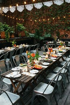 A Causal, Modern City Hall Wedding and Restaurant Reception at Gran Electra in Brooklyn, New York Causal Wedding, Red Maple Tree, New York City Hall, Leafy Plants, Restaurant Wedding, Wedding Activities, Brooklyn New York, Modern City, Wedding Story