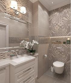 Bathroom vanity ideas luxury tile new ideas Best Bathroom Tiles, Bathroom Wallpaper, Bathroom Design Small, Bathroom Layout, Bathroom Interior Design, Modern Bathroom, Bathroom Ideas, Budget Bathroom, Master Bathroom