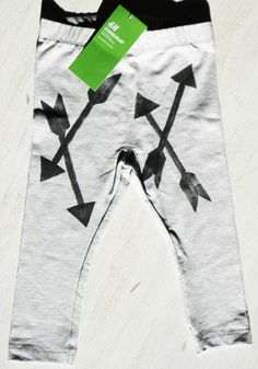 A Falling Feather  Arrow Hand Stamped Legging  by AFallingFeather, $20.00