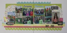 Practical Scrappers: Two Page Layouts - LIsa Moen