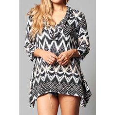 HOLIDAY SALE Plus size Printed 3/4 Sleeve Top Perfect for the transition to fall. Cute Aztec print. Please do not buy this listing. Comment with your size and I will make you a new one when ready to purchase. Tops