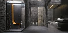 Multifunction rectangular steam shower cabin ΩMEGA By Jacuzzi® design Pininfarina
