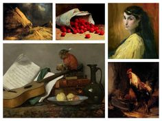 """April 23, 1833 is the birthdate of French realist painter, Antoine Vollon. Best known as a painter of still lifes, landscapes and figures, Vollon was a successful celebrity, enjoyed an excellent reputation, and was called a """"painter's painter"""" during his lifetime."""
