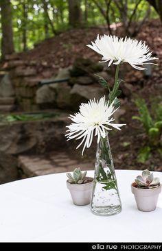 Simple flowers - idea for different centerpiece.