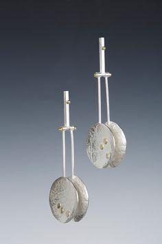 Sterling, 24K, 18K Bi-Metal, Hinged - Each Drop Swings Independently.