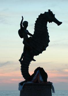 """""""The Boy on the Seahorse"""" Puerto Vallarta"""