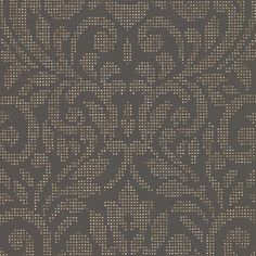 Luxor Gold Holographic Damask Wallpaper