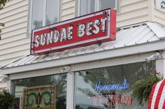 Sundae Best Homemade Ice Cream Parlor - Sundae Best Avalon Best Homemade Ice Cream, Avalon Beach, Ice Cream Parlor, My Images, Giclee Print, Watercolor Paintings, Neon Signs, My Favorite Things, Summer