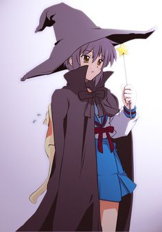 """did you know that """"suzumiya haruhi no yutsu"""" have the second season?, well, i just watch it and now i want to redraw old pic of yuki nagato with her wit. yuki nagato in witch costume Beautiful Girl Names, Beautiful Anime Girl, Chica Anime Manga, Manga Girl, Anime Girls, Yuki Nagato, Anime Witch, Haruhi Suzumiya, Kyoto Animation"""