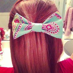 DIY hair bow!