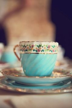 Vintage tea cup in my favorite color