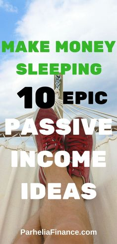 Are you looking to make money sleeping? Take a look at these passive income ideas to have another source of income. You can turn any of them into a full side hustle as well! Click through to make money in your sleep. Make Money From Home, Way To Make Money, Make Money Online, Home Based Business, Online Business, Business Ideas, Entrepreneur, Money Saving Tips, Money Tips