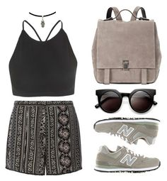 """""""Boho casual"""" by baludna ❤ liked on Polyvore featuring Dorothy Perkins, Proenza Schouler, Motel and New Balance"""