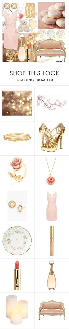 """Macaroons"" by michal100-15-4 ❤ liked on Polyvore featuring Nine West, Moon Collection, Kate Spade, Oasis, Yves Saint Laurent, Guerlain, Christian Dior and Gerson"