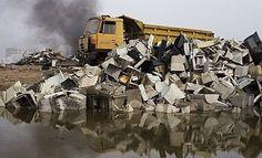 La basura electrónica de Europa se acumula en Ghana
