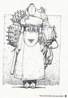 bassman5911:  Female Guard, concept character for SF story. Artwork by Oscar Chichoni